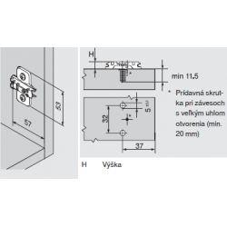 CLIP top - krížova montážna podložka 0mm, expando