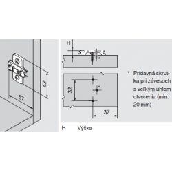 CLIP top - krížova montážna podložka 3mm, vrut