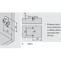 CLIP top - krížova montážna podložka 3mm s excentrom