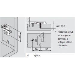 CLIP top - krížová montážna podložka 6mm