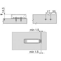 BLUM TIP ON adaptér, lineárny 50mm