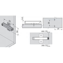 BLUM TIP ON adaptér, krížový 76mm