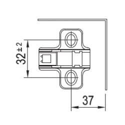 záves CLIP +45°, s tlmením