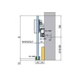 DIVA - súprava kovania pre sklenené dvere bez tlmenia
