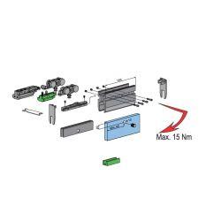 Súprava kovania pre 1 dvere max.100kg, sklo 10mm, vzduch. tlmenie
