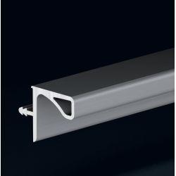 Dvierkový profil pre horné skrinky, imitácia nerezu