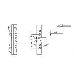 Šablóna pre montáž závesov SZ82, priemer 14-16mm