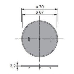 dekoratívny prvok pre Touch-in, okrúhly