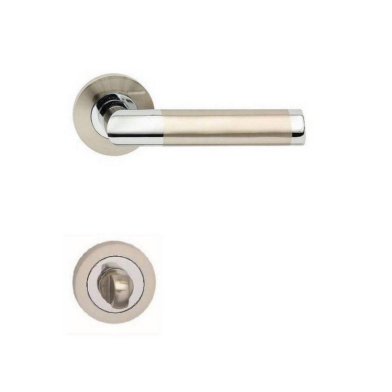 klučka NICOL R - kombinácia lesklý chrom/satin nikel
