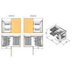 VIBO - systém pre rohovú skrinku