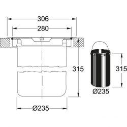 kôš KEA E12, horná montáž