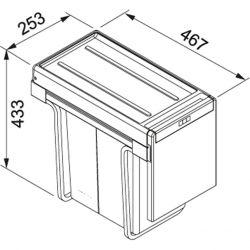 Sorter Cube 30, 2x15l