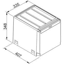 Sorter Cube 40, ručný výsuv, 2x14l