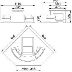 Sorter Cube rohový, 2x18l