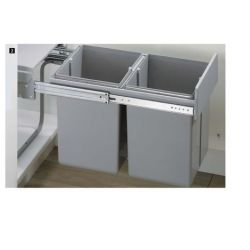 Vstavaný odpadkový kôš Bin.it Duo II - 400, PVC
