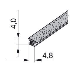 štetinka dorazová nasúvacia 4,8x4 bez lepu