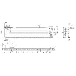METABOX - sivý, výška 86mm