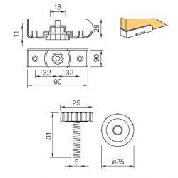 stavacia nožička PR 26.18