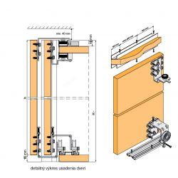 EDEN- posuvné dvere s neviditeľným mechanizmom