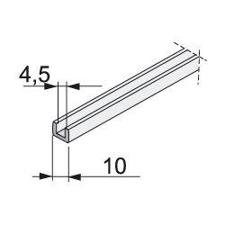 tesnenie na sklo hrúbky 4,5mm