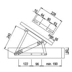 posteľový zdvihák KP01