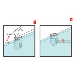 podpera na sklenené police PEKI, nikel