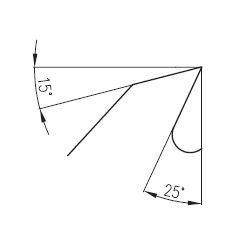 PILANA 5310 - 56KV25° Ø600 a Ø700