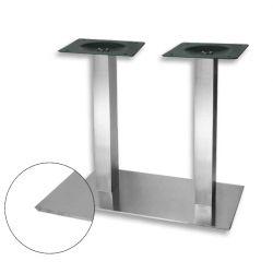 Centrálna stolová noha Strong dvojitá, nerez brúsený