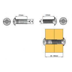 spojovacie kovanie - komplet M6/30