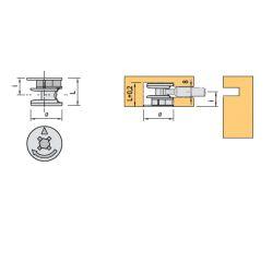 excenter spojovacieho kovania