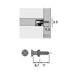 Kolík k zaskrutkovaniu DU 321 pre excenter