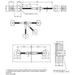 pokosový spoj 8x135mm