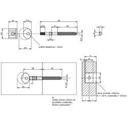 Konektor na zábradlie 8x98mm