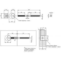 konektor na zábradlie 8x125mm