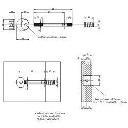 lomená spojovacia tyč 85x6mm