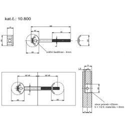 spojovacia tyč plas. hlava 100x16mm