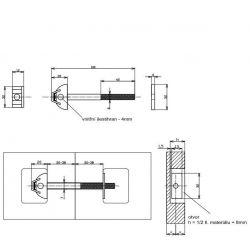 spojovacia tyč 100x6mm
