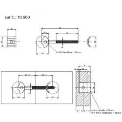 spojovacia tyč 81x35mm
