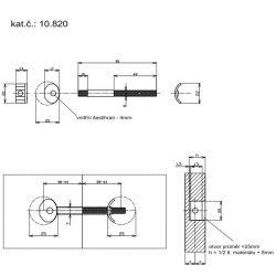 spojovacia tyč 90x6mm