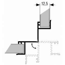 vonkajší roh flexibilný 90° až 180°, výška 150mm