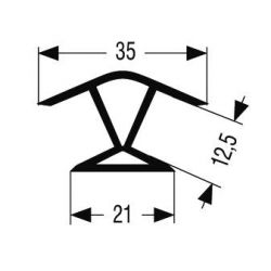 vnútorný a vonkajší roh 135°, 120mm