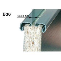 zasklievací profil B36, hliník