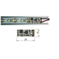 Vypínač/ stmievač do ALU profilov, žltá LED