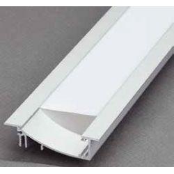 Profil pre LED pásiky, FLAT, Strieborný elox