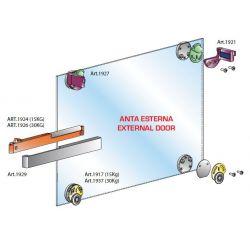 Pre sklenené dvere - vložené s vonkajším tlmením, 30kg